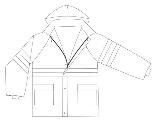 chaqueta reflectante EN471-94-2H alta visibilidad