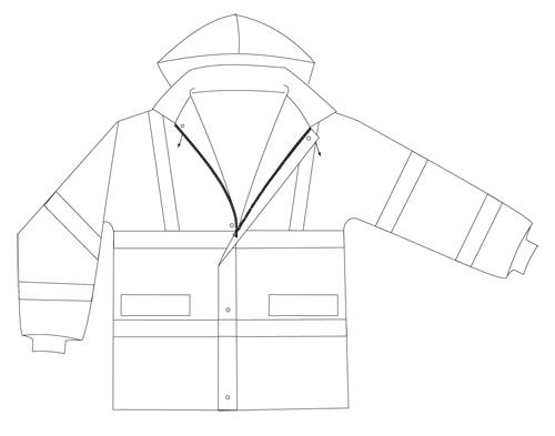 chaqueta reflectante MP4D-EN471-94-2H vestuario trabajo alta visibilidad