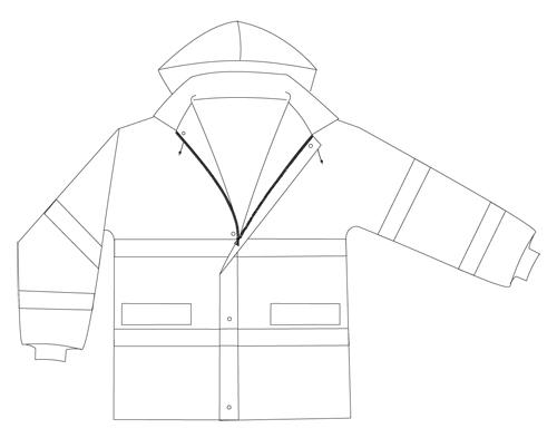 chaqueta reflectante alta visibilidad MP4DB-EN471-94-2H