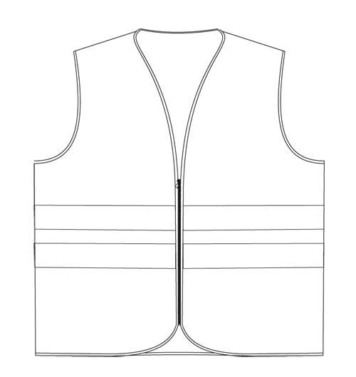 peto cremallera EN471-T1H vestuario alta visibilidad