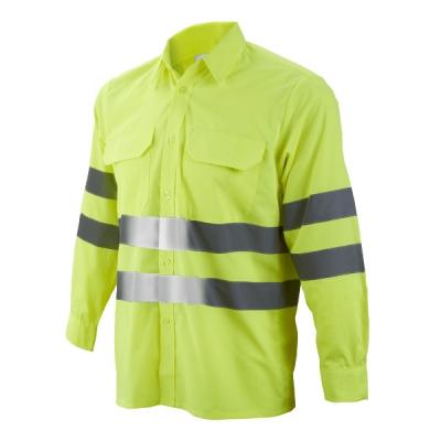 Camisa amarilla reflectante - Ropa laboral alta visibilidad - Valencia