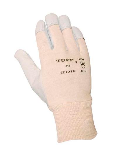 cb6f9e4170 Guante de cuero flor cabra y dorso de algodón - Protección y Seguridad