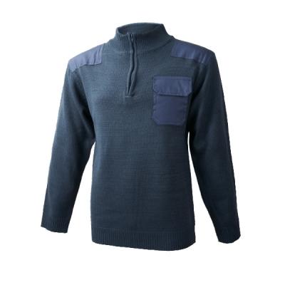 Jersey con refuerzos - Cremallera y bolsillo