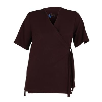 bata-tunica-talla-unica-ajustable-manga-corta-marron-6320mar