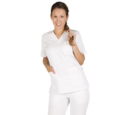 Blusa blanca vega, entallada para chica