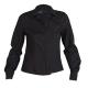 Blusa para señora de manga larga, abotonada y de color negro