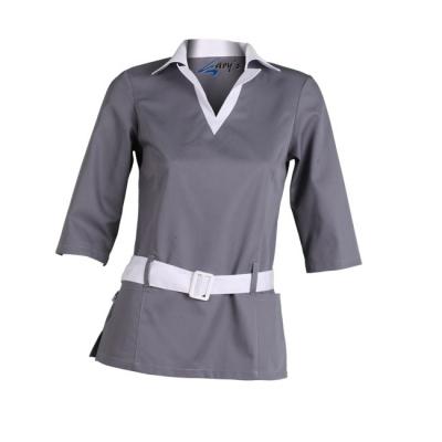 Blusa para señora de manga 3/4. Color gris
