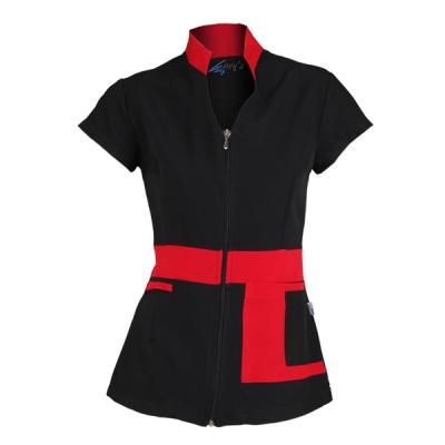 blusa-senora-manga-corta-negro-bolsillo-naranja-6246