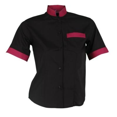 Blusa para señora de manga corta negra