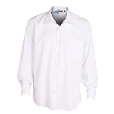 Camisa para caballero de manga larga, abotonada y de color blanco