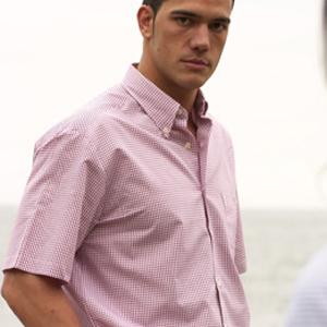 Camisa hombre manga corta con cuello botón