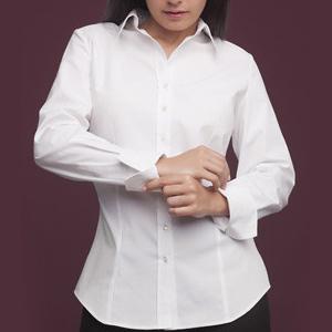 Camisa para mujer de manga larga con puño vuelto