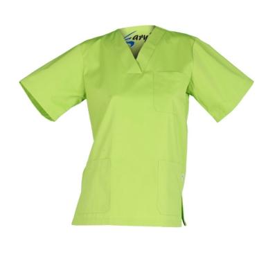 Casaca unisex de manga corta. Especial para centros de salud, para médicos o enfermeros. Color verde pistacho