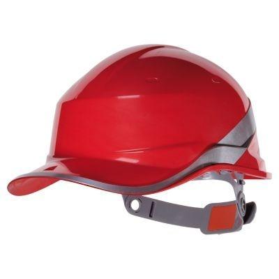Cascos obra - Cascos trabajo Diamond V- Protección cabeza - EPIs Valencia Rojo