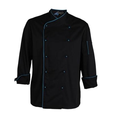 Chaqueta cocina ml negra azul - Uniforme corporativo - Ropa laboral