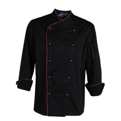Chaqueta cocina ml negra malva - Uniforme corporativo - Ropa laboral
