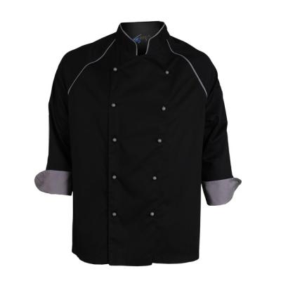 Chaqueta cocina ml negra - Uniforme corporativo - Ropa laboral