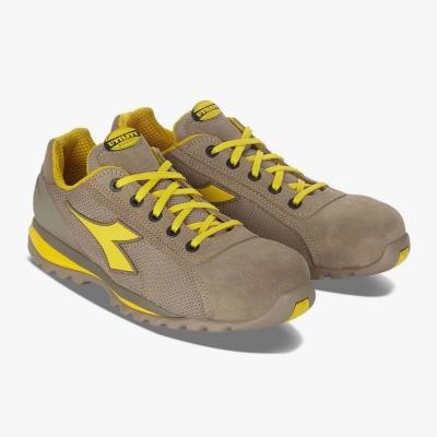 Calzado de seguridad Diadora Amarillo y Beige