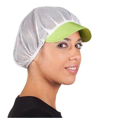 Gorra de rejilla para alimentación color pistacho