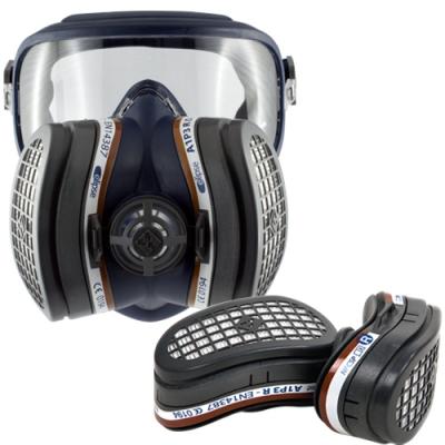 Máscara respiratoria integral con filtros A1P3