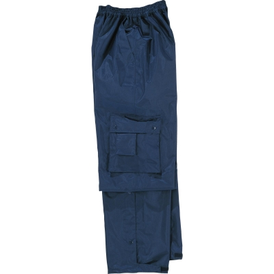Pantalón de poliéster impregnado PVC. Elástico
