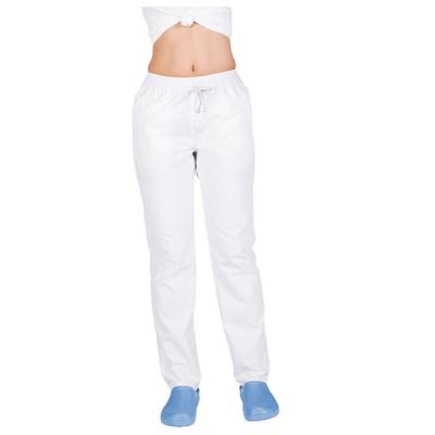 Pantalón blanco sector sanidad con goma y cordón unisex