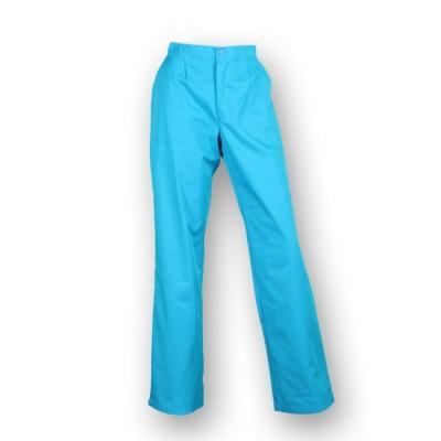 Pantalón largo, con goma elástica, con bolsillos y de color azul