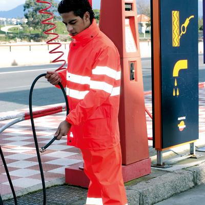 ropa laboral alta visibilidad monocolor vestuario trabajo reflectante