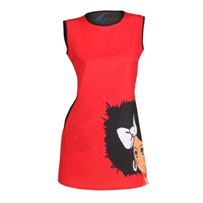 vestido-sin-mangas-rojo-negro-poliester