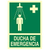 Ducha de emergencia - Señales de evacuación