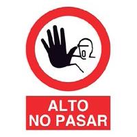 Señal prohibición - No pasar