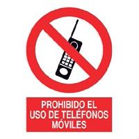 Señal prohibición - Prohibido el uso de teléfonos móviles
