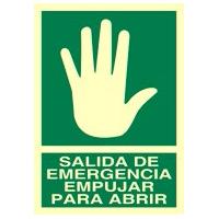 Salida de emergencia empujar - Señales de evacuación