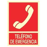 Señal teléfono de emergencia- Señales de extinción