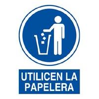 Señal utilicen la papelera