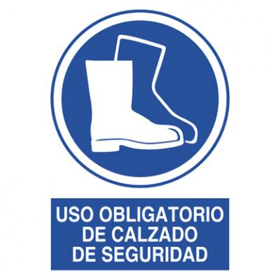 Uso obligatorio calzado seguridad