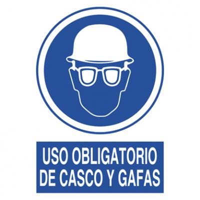 Uso obligatorio gafas y casco