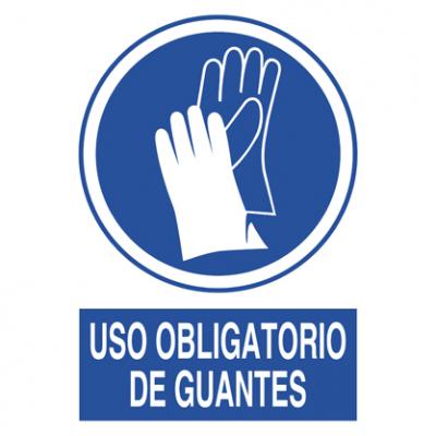 Uso obligatorio guantes