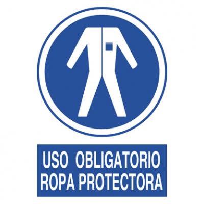 Uso obligatorio Ropa protectora