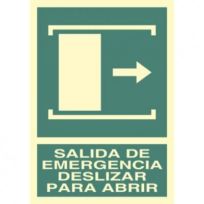 Salida de emergencia - Deslizar para abrir