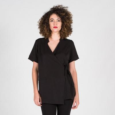 Blusa mujer Añil - Peluquería - Ropa Laboral Valencia