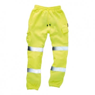 Pantalón amarillo reflectante alta visibilidad certificado