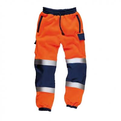 Pantalón naranja-azul reflectante alta visibilidad certificado