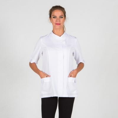 Blusa mujer Gardenia - Peluquería - Ropa Laboral Valencia blanco