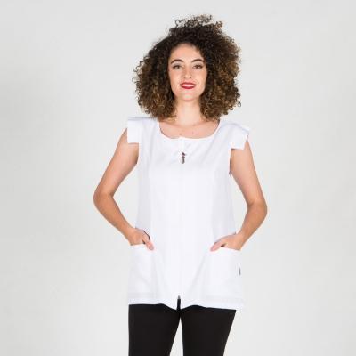 Blusa mujer Melisa - Peluquería - Ropa Laboral Valencia blanco