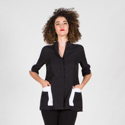 Blusa mujer Poppy - Peluquería - Ropa Laboral Valencia negro
