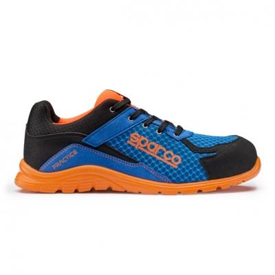 calzado de seguridad S1-P azul naranja