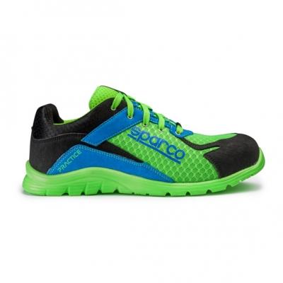 calzado de seguridad S1-P verde azul